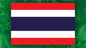 thailand flag cannabis leaves, thai cannabis