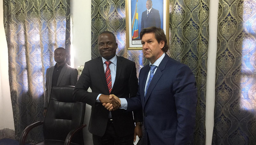 grant sanders Ceo of Instadose meets DRC vice minister